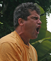 Yelling Man By Paul Cross